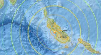 Earthquake Tsunami Threat in Papua New Guinea