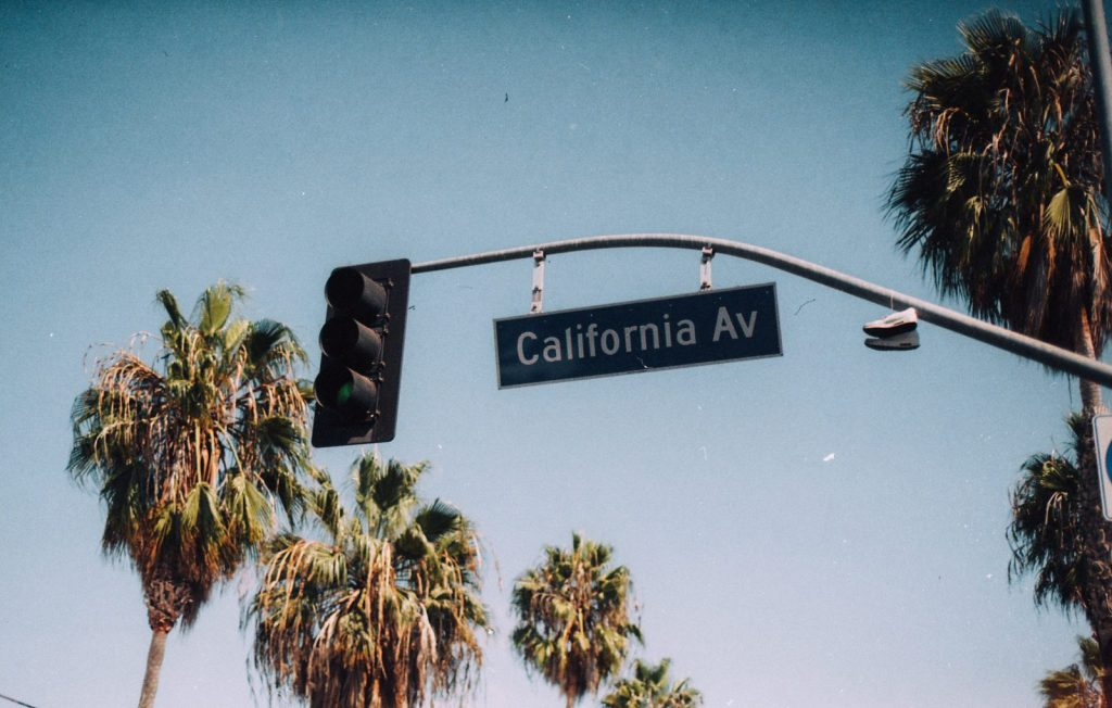 California Avenue Sign Road